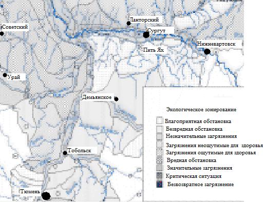 Карта-схема экологического