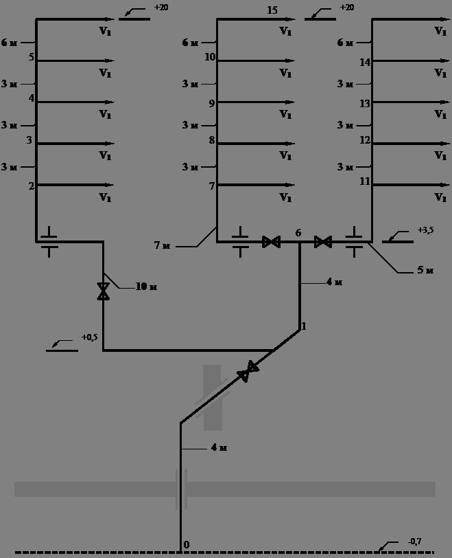 Расчётная схема тупикового
