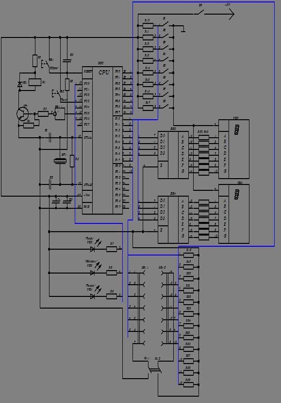 Электрическая схема тестера