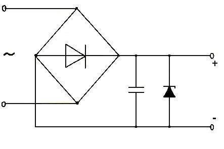 Схема диодного выпрямителя с