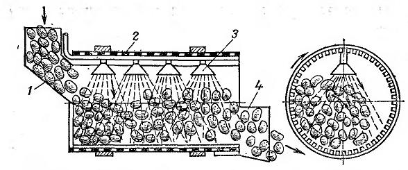 Схема мытья овощей в