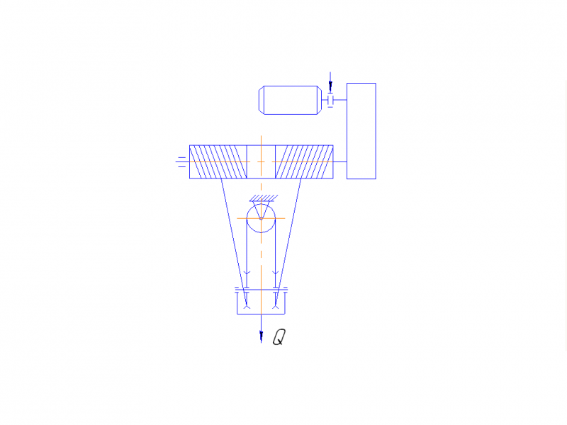 Рис. 1.1 – Схема механизма