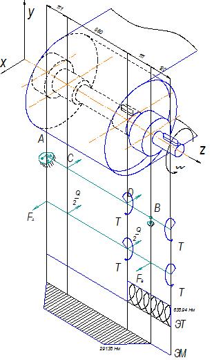 Рисунок 8 - Расчетная схема