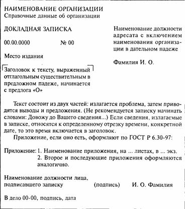 Оформление Служебного Письма по Госту образец