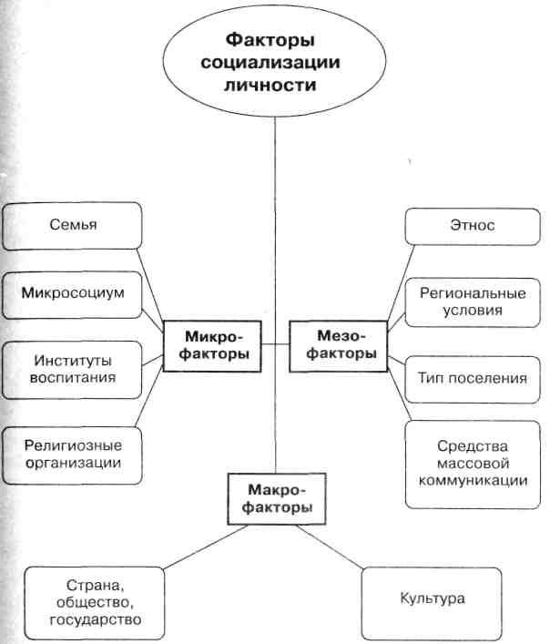 Факторы социализации личности