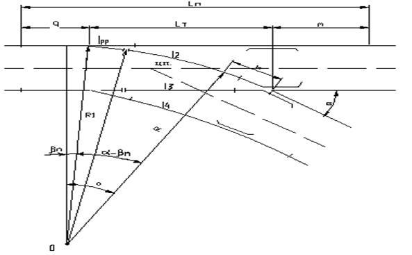 Расчетная схема для