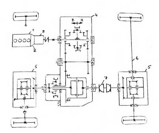 1 – двигатель