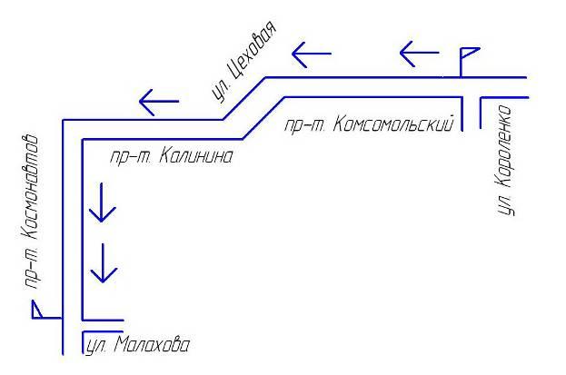 Рисунок 3 – Схема маршрута